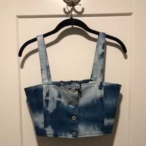 Levi's Made & Crafted Denim Tie Dye Crop Top